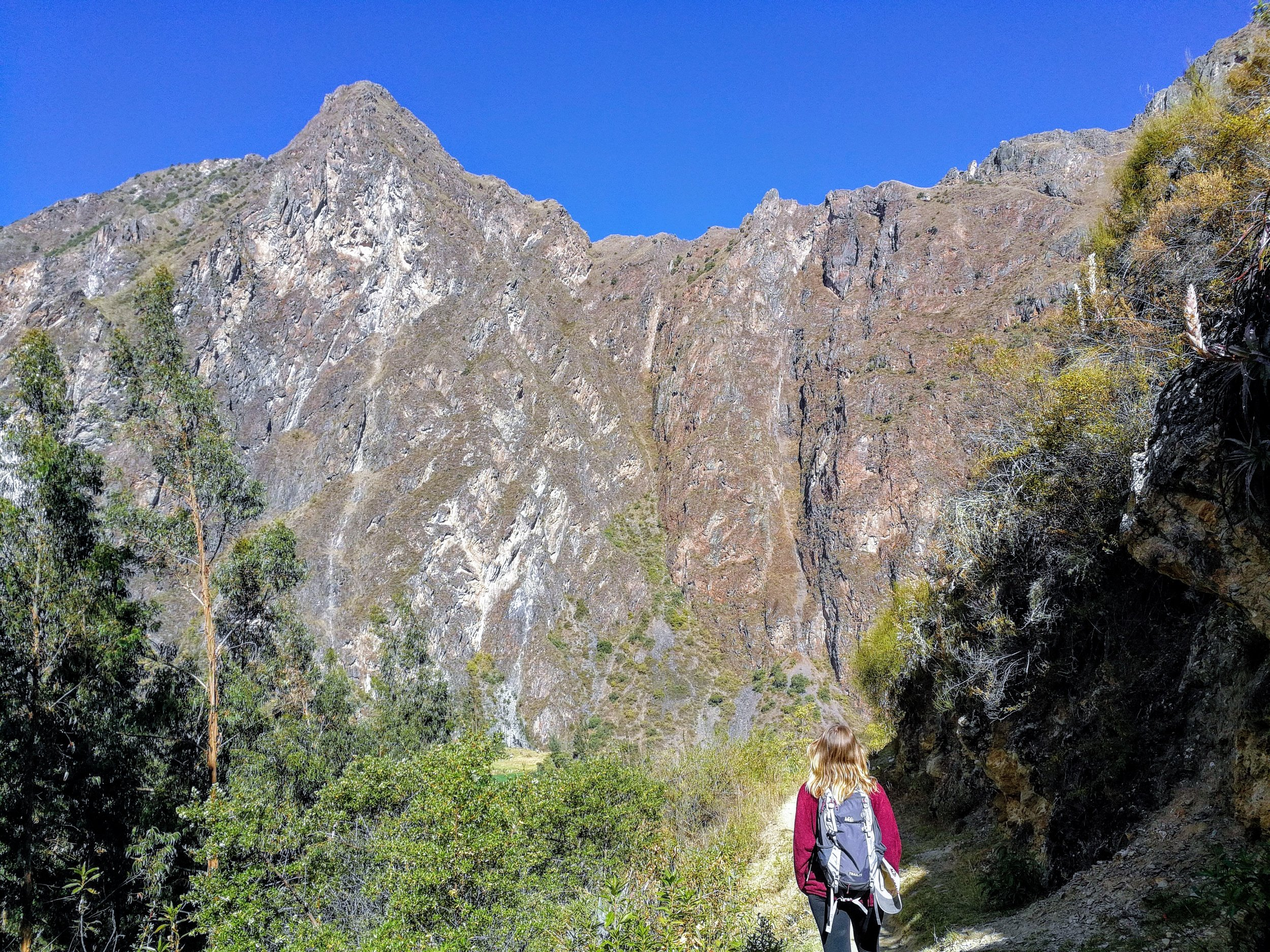 The hike down from Pumamarca to Ollantaytambo through the Andes is breathtakingly scenic.