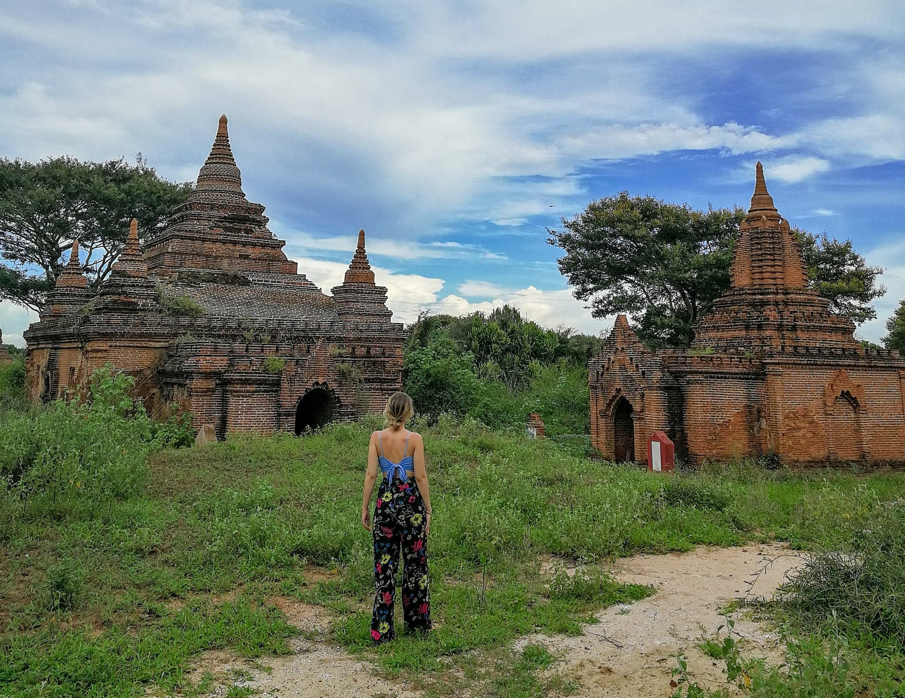 Rose Cornwell exploring the ancient pagodas of Bagan.