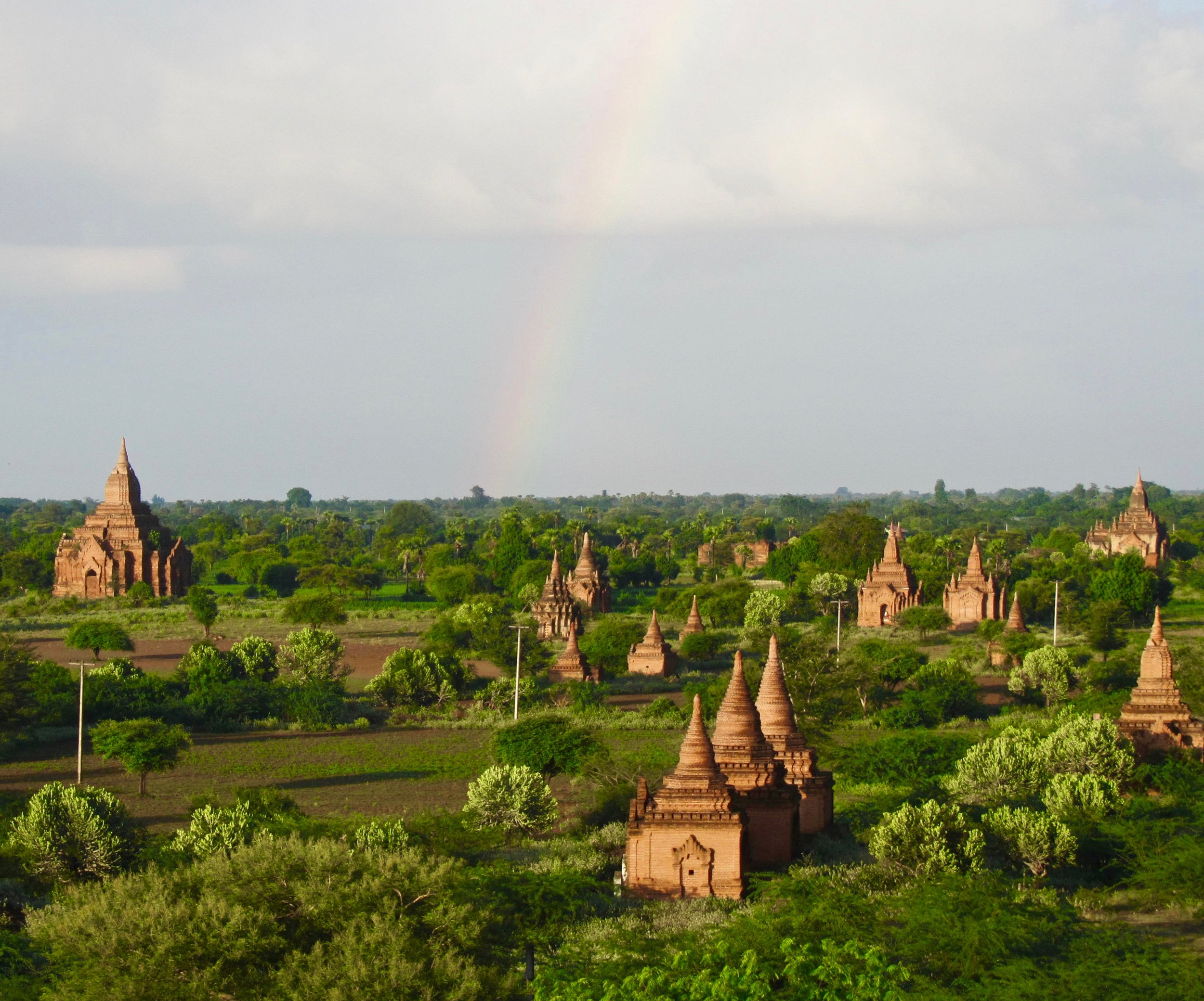 rainbow in Bagan after a thunder shower. more travel photos here.