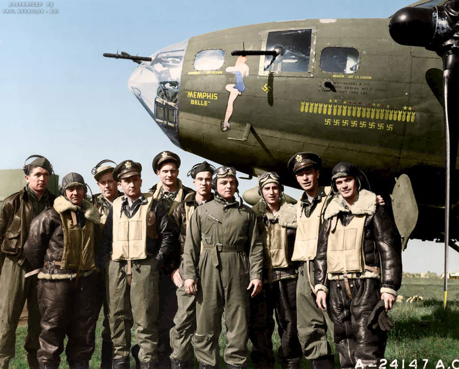 Memphis Belle with Aircrew