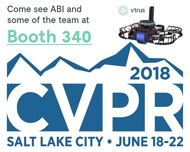 Vtrus is proud to announce that we'll be exhibiting at CVPR in Salt Lake City next week - come by and meet some of the team and see ABI in person!  Learn more at www.vtr.us
