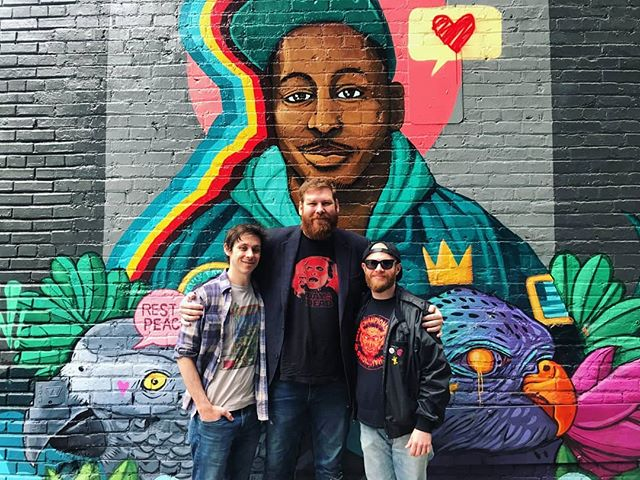 We finally got to visit the mural of KB by @tenhun 💜🦅 #birdluger4ever  2nd Side Stories out now!