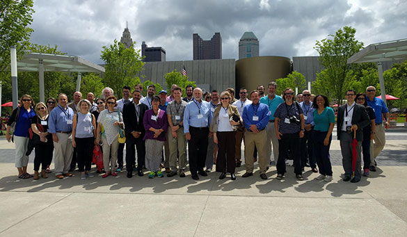 Summit participants were joined by Columbus City Councilwoman Jaiza Page and two city council staff members for a site tour of the award-winning Scioto River Greenways Project.