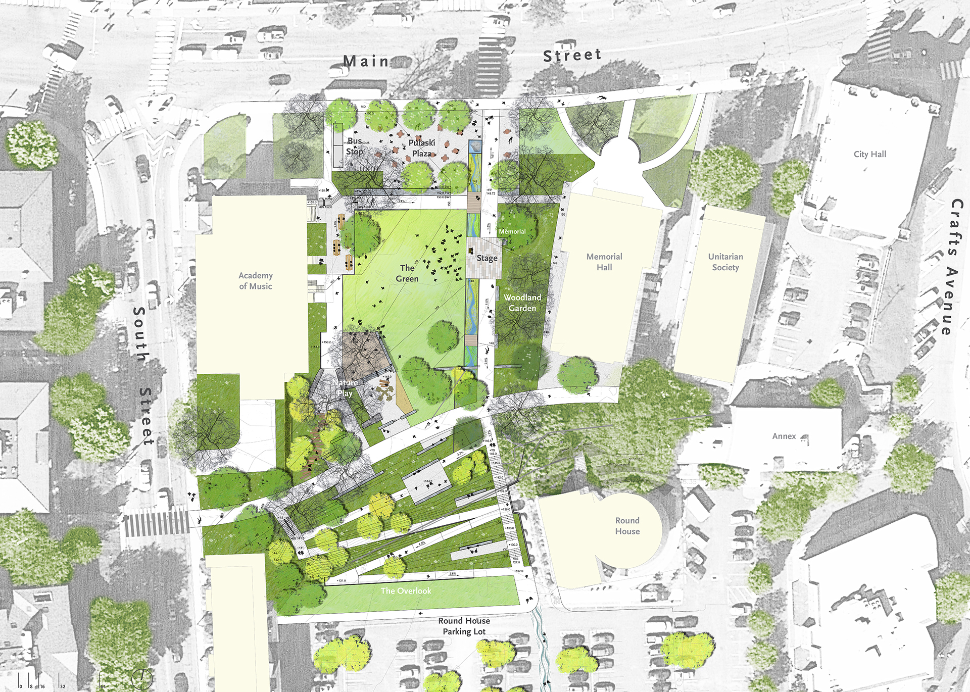 BSLA Design Award Honor winner: Pulaski Park, Northampton, MA ; Landscape Architects: STIMSON