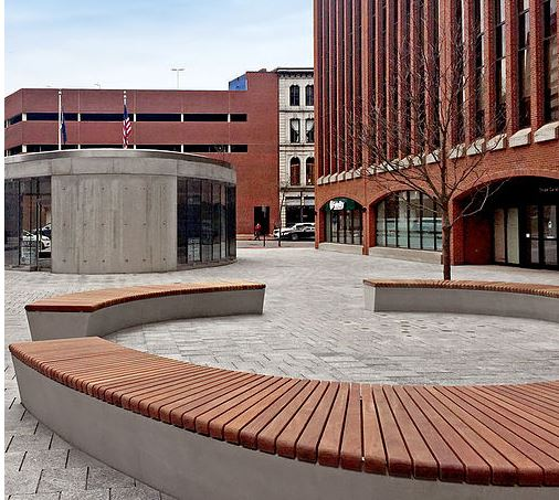Canal Plaza in downtown Portland, Maine - one of Michael's recent works.
