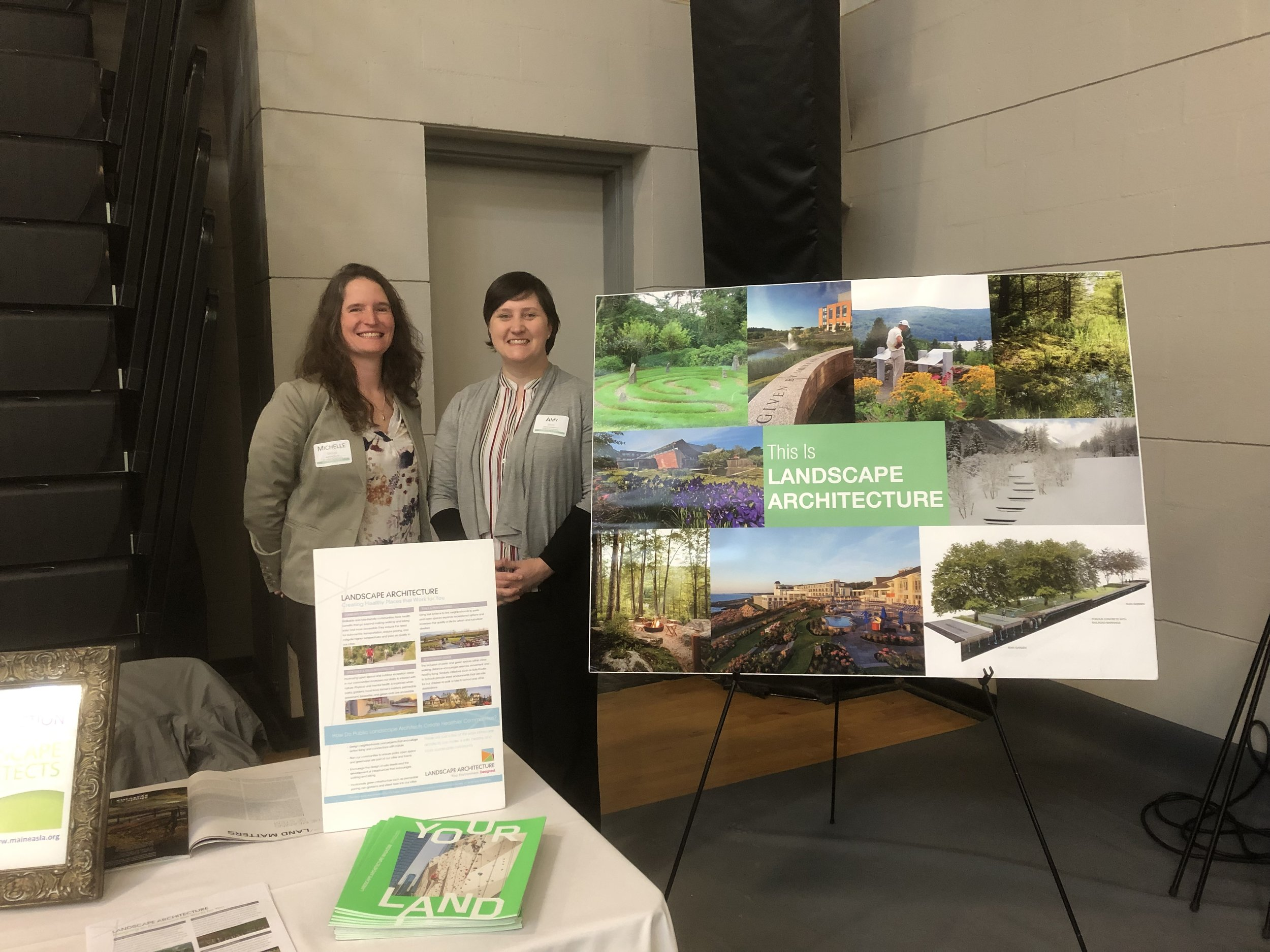 Michelle Grover (MSLA Co-Chair) and Amy Segal (MSLA Treasurer) attended the Maine STEM Summit at Central Maine Community College in Auburn on Friday, May 10th.