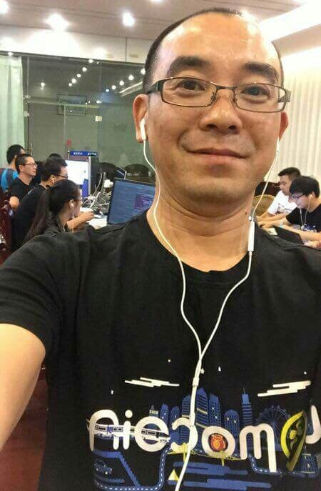 Feixiong (Xiong Lijian) CEO of LoMoCoin. Image source: Official LoMoCoin-Team Twitter.