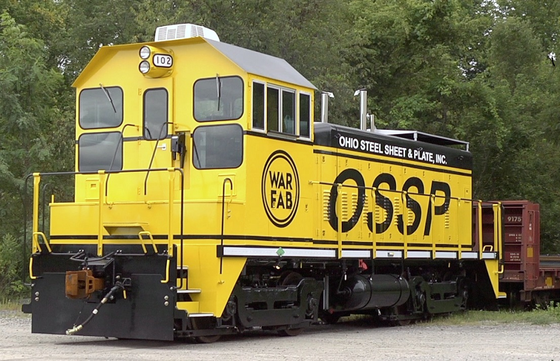 With both rail and truck access, OSSP can ship anything, anywhere with our own fleet of trucks on the road at all times. We have established relationships with hauling companies around the world to get what you need where. Oversize, overweight?, no problem. We will handle the permit headaches and have your plate on the road in no time.  Above is our diesel/electric locomotive. It has a 12-cylinder primary diesel engine that powers four DC traction motors that turn the wheels. It also has a four-cylinder auxiliary diesel providing ancillary electrical power, providing a 95% reduction in emissions and reducing fuel consumption by 75% and particulate matter by 1.53 kilograms/day.