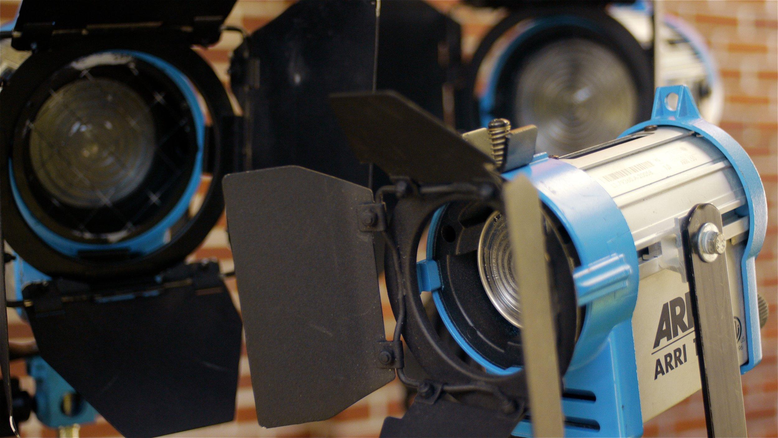 Arri fresnel lighting provides a great amount of control on the set.