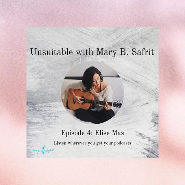 The interview is live now [Link in @maryb.safrit 's bio!] 😬 We have a pretty vulnerable chat about my music and how it relates to faith, relational health, and healing 🧡 Hope u enjoy 😌