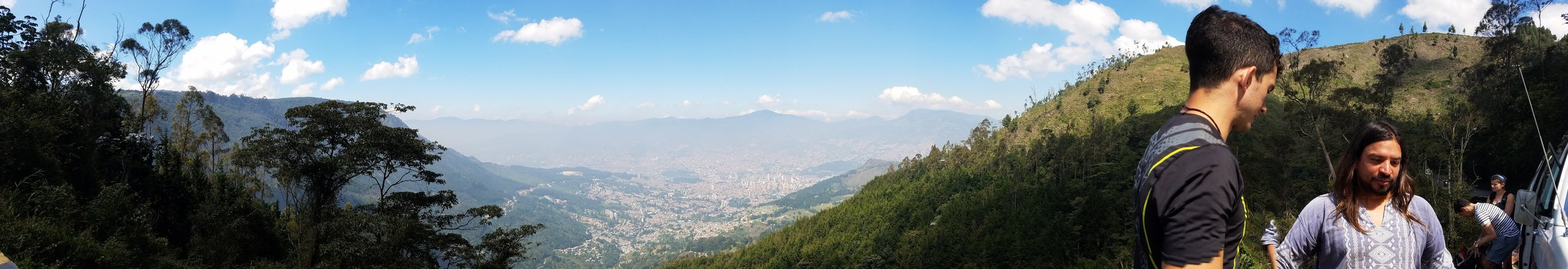 A view of Medellín from above