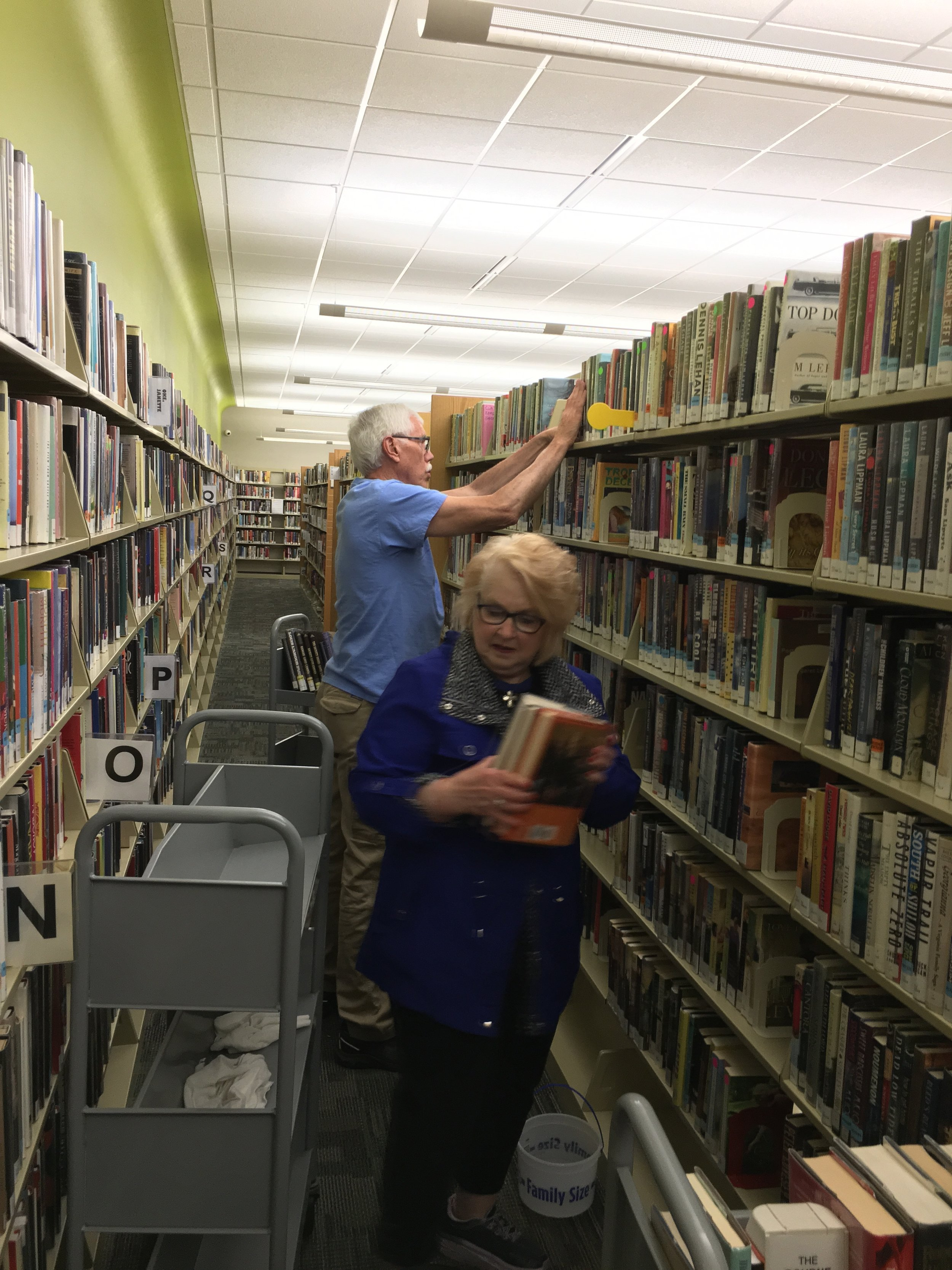 Cleaning and Dusting of Stoughton Library