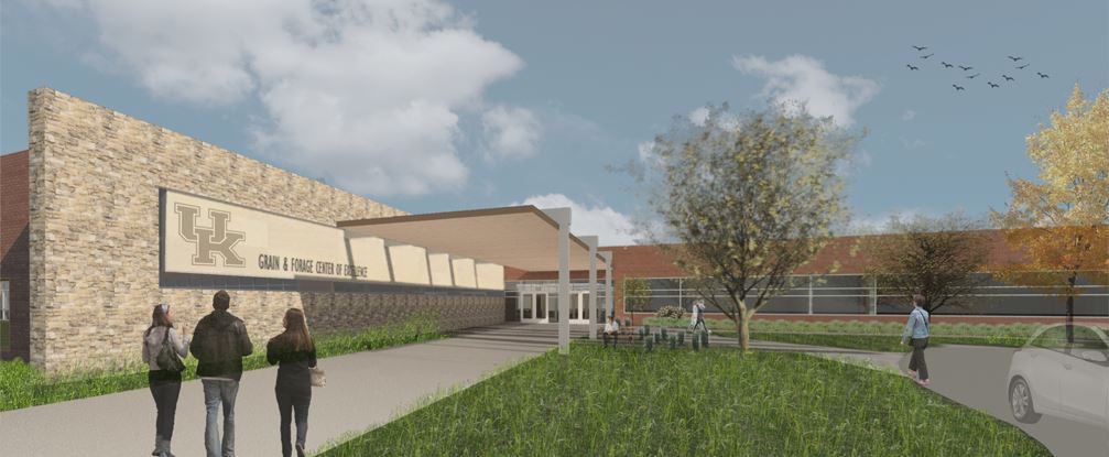 Drawing of proposed UK Grain and Forage Center of Excellence.