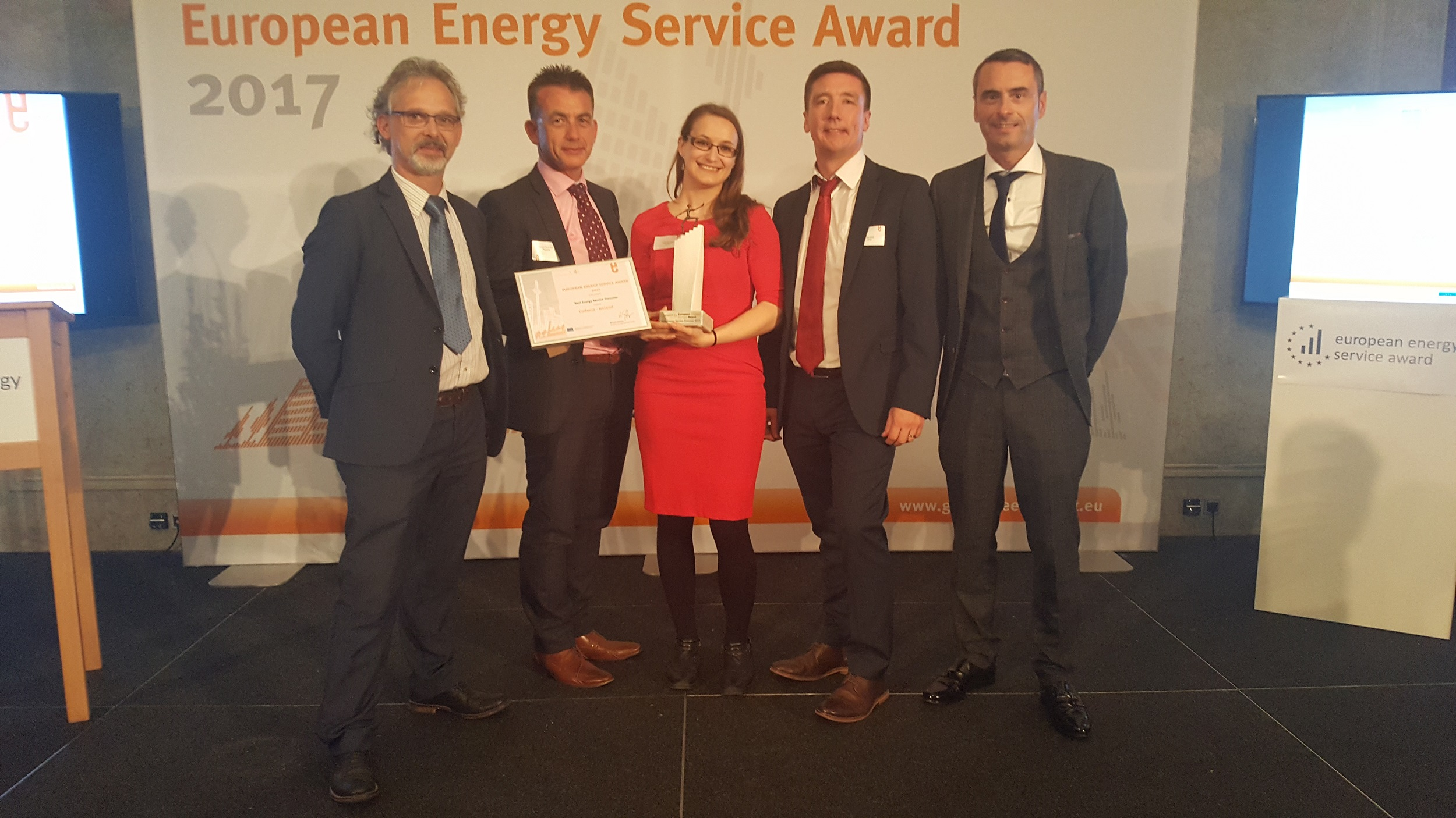 Winner at the European Energy Awards in Berlin 2017 - Awarded for our success with DCC in EPC Leisure Centre Project..