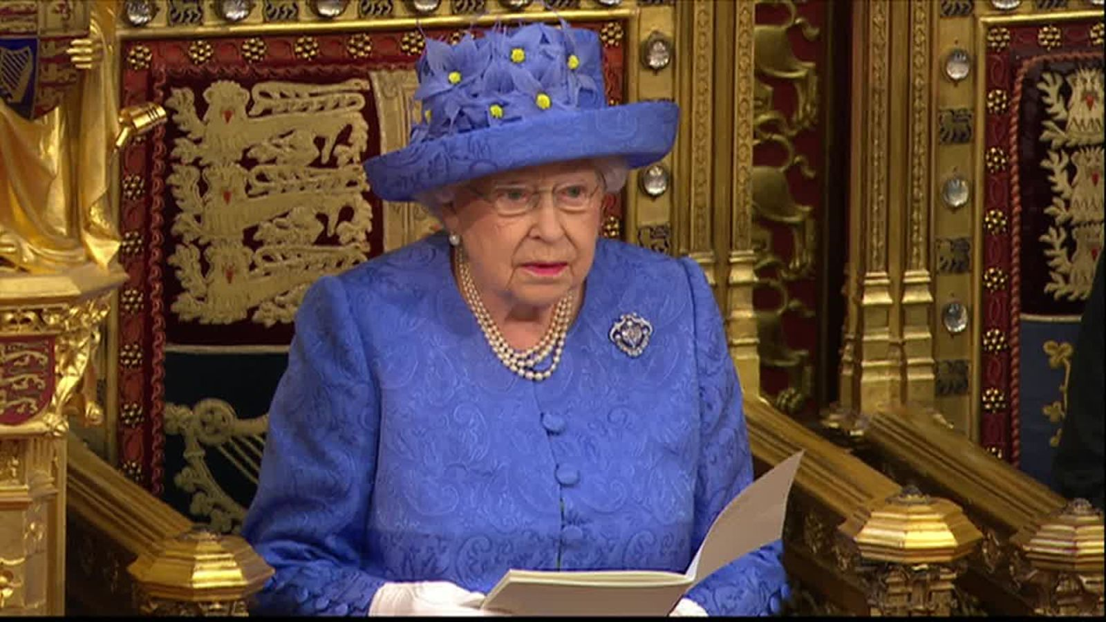 """The Queen:""""One supports more homes"""" (paraphrased). Photo courtesy of  Sky News ."""