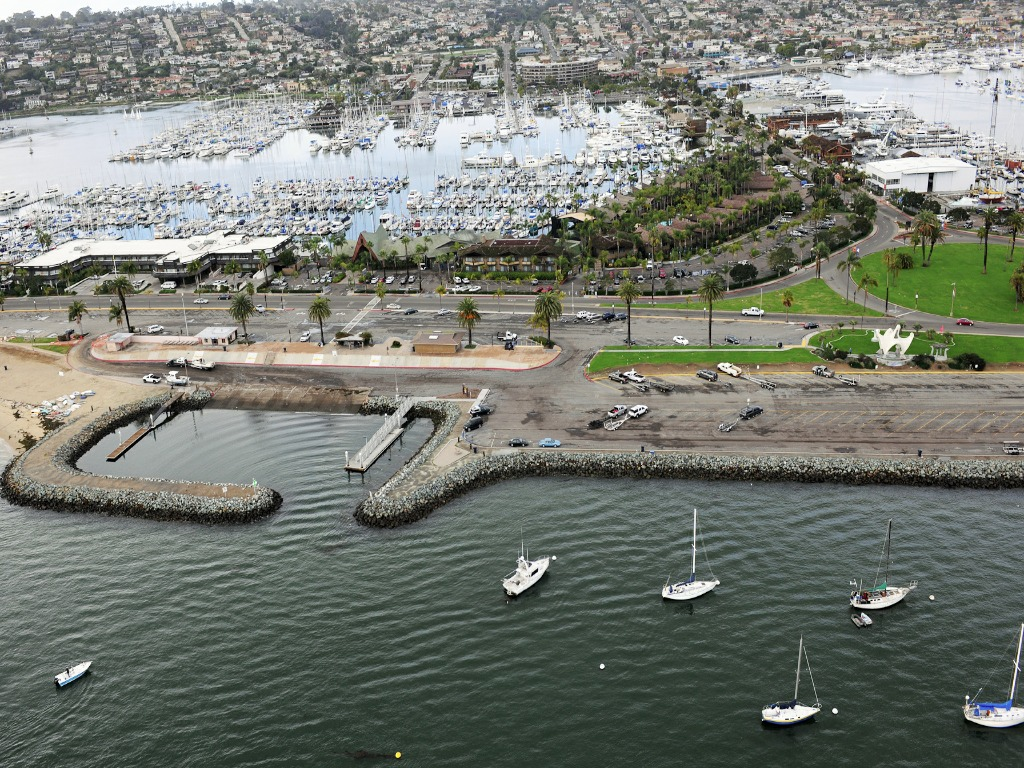 Shelter Island's boat launch ramp will be replaced by a $9.5 million facility. (San Diego Unified Port District)