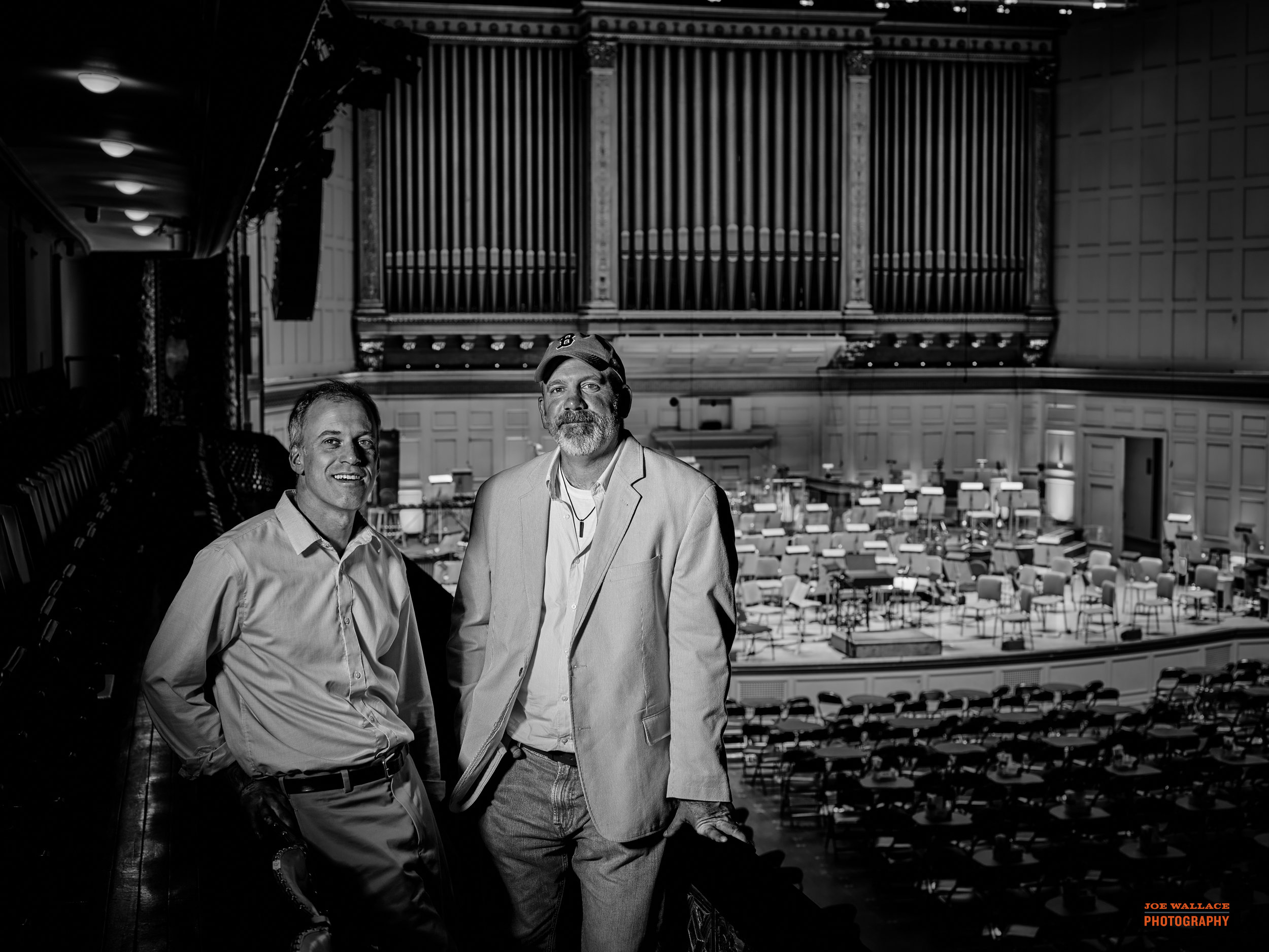 Chuck and Ronnie at Symphony Hall, Boston, MA
