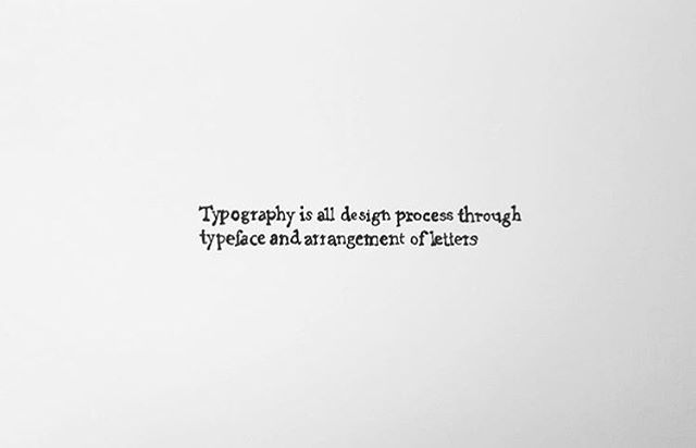 2015 my own definition of typography