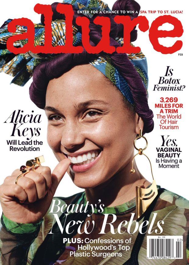 Alicia Keys: No makeup movement.