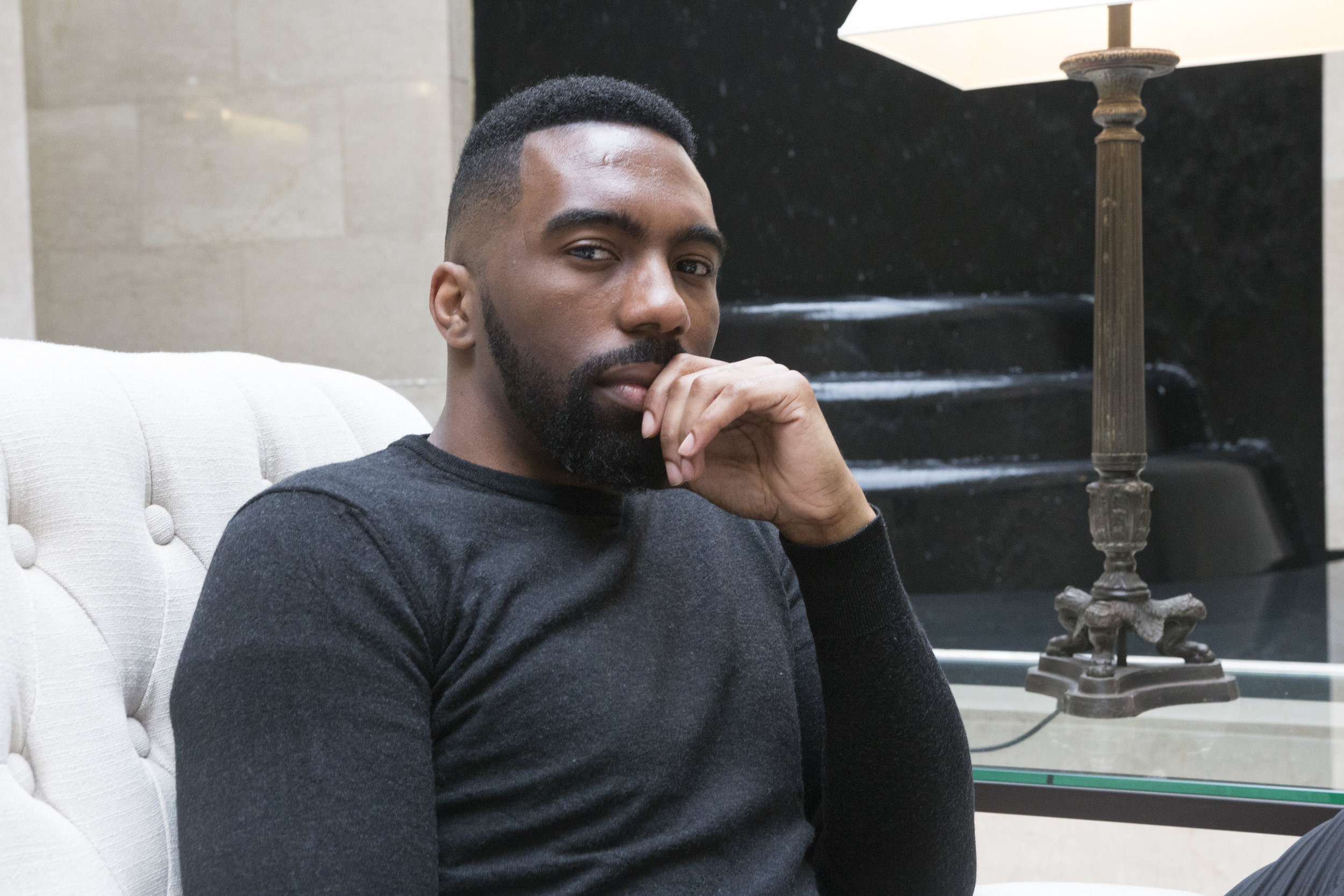 Aaron Wallace, founder of the UK's first black-owned men's grooming brand, Shear and Shine.