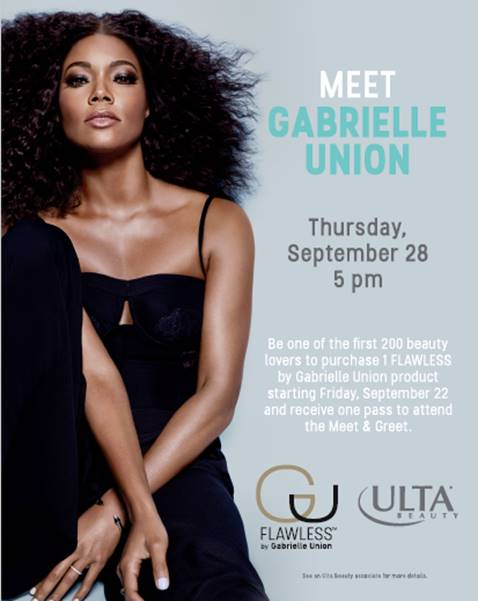 Gabrielle Union - Ulta Beauty Meet & Greet