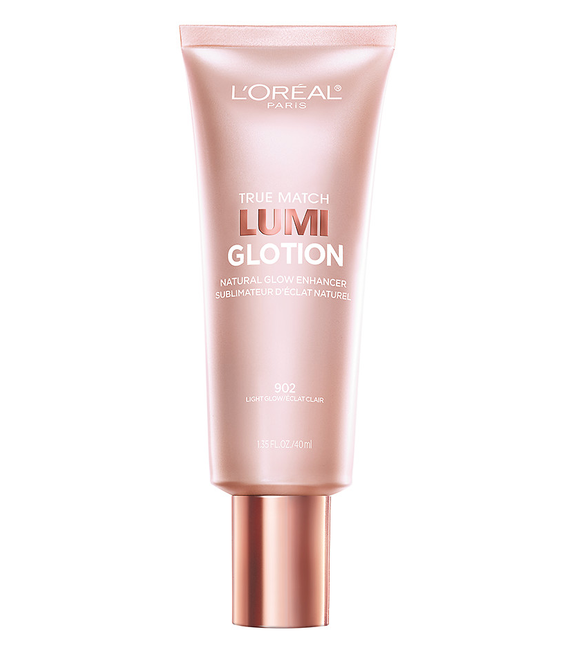 Glotion / Light Glow - Perfect to mix with your foundation or BB cream or even worn alone for that no makeup look. This product does not break me out and I even wear it on body focusing it on my shoulders and décolletage. Available in four colors: Fair Glow, Light Glow, Medium Glow, and Deep Glow.