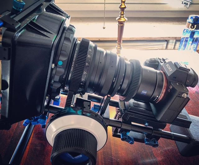 strapped for cinematic look! #sony #zeiss #slrmagic #tiffen