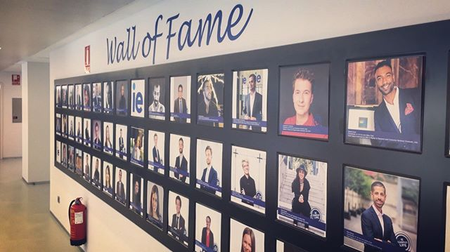 very excited that our founding team at the IE Film and Television Industry Club made it to the Wall of Fame at IE Business School. photo by Dylan D'Lima. #ie #walloffame #ieftic