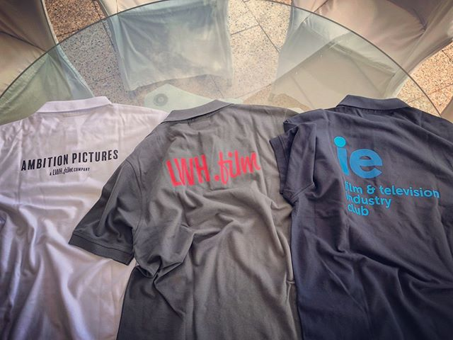 for many years i had the dream to print logos on shirts. thanks to ie, i finally know what a vector file is and how to create it. printing shops always rejected my jpegs, haha. which one looks best? #ietookmehere #shirts #ambitionpictures #lwhfilm #ieftic