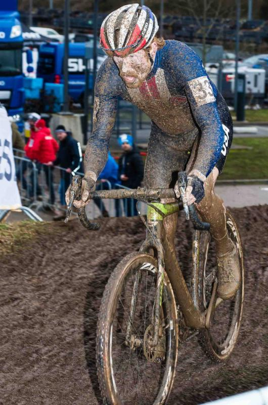National Champion Stephen Hyde races to an 18th place finish as top  American at World Championships in Bieles, Luxembourg. Photo: Kurt Van Hout.