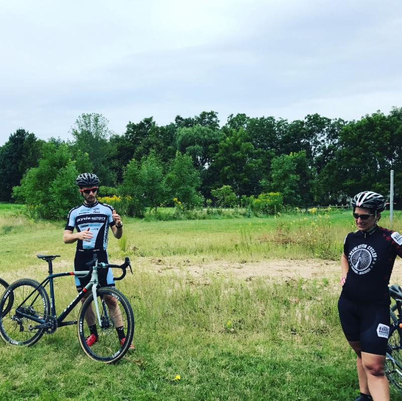 Coach Nick Lemke Discusses Cross Technique at Camp in Wisconsin.