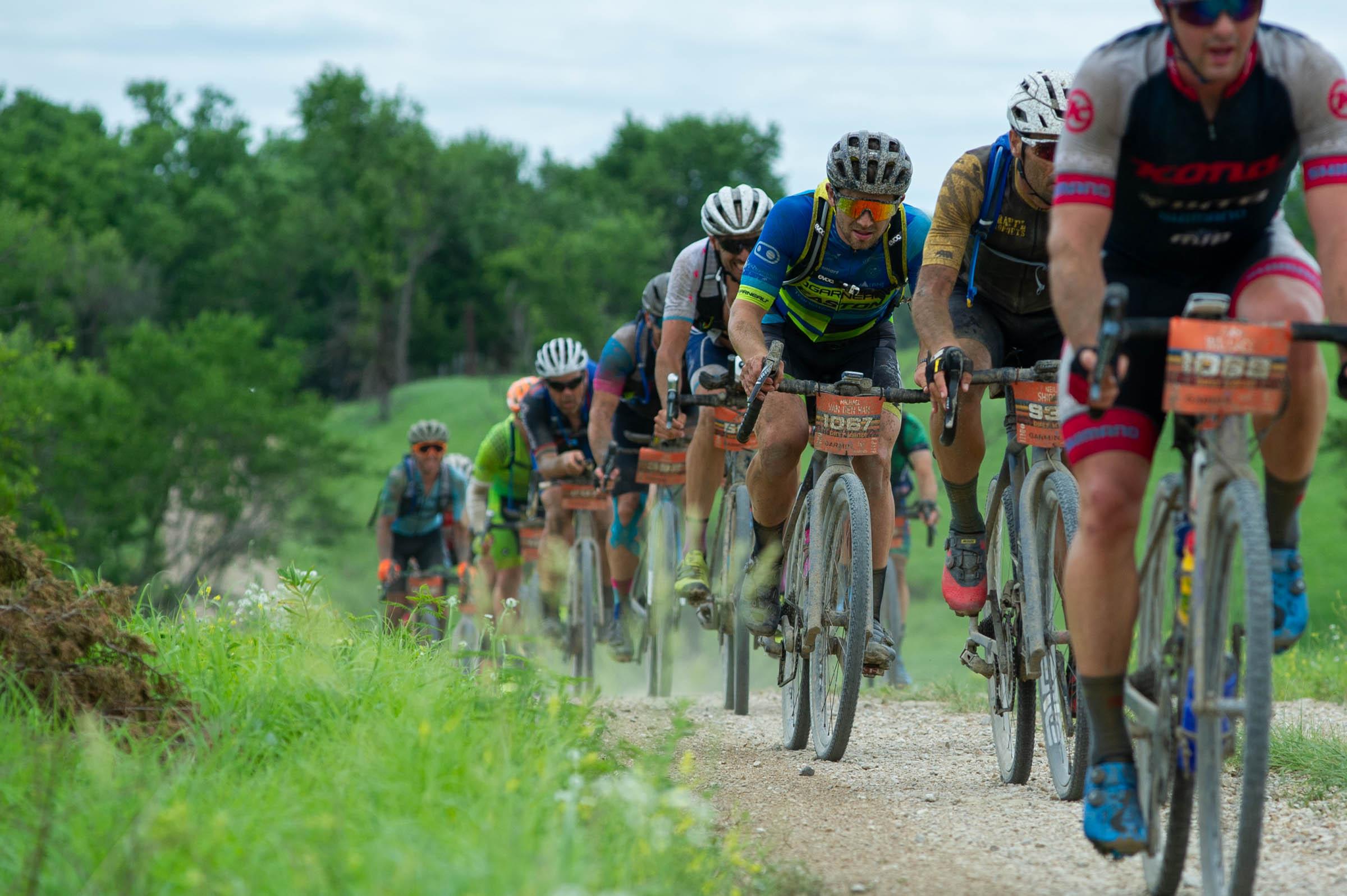 Michael van den Ham races Dirty Kanza 200. Photo Ethan Glading.