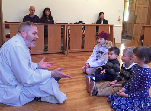 Children's sermon at St. John's Anglican Church, Orinda, CA