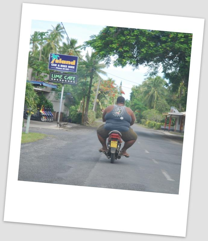 Cruising round Raro