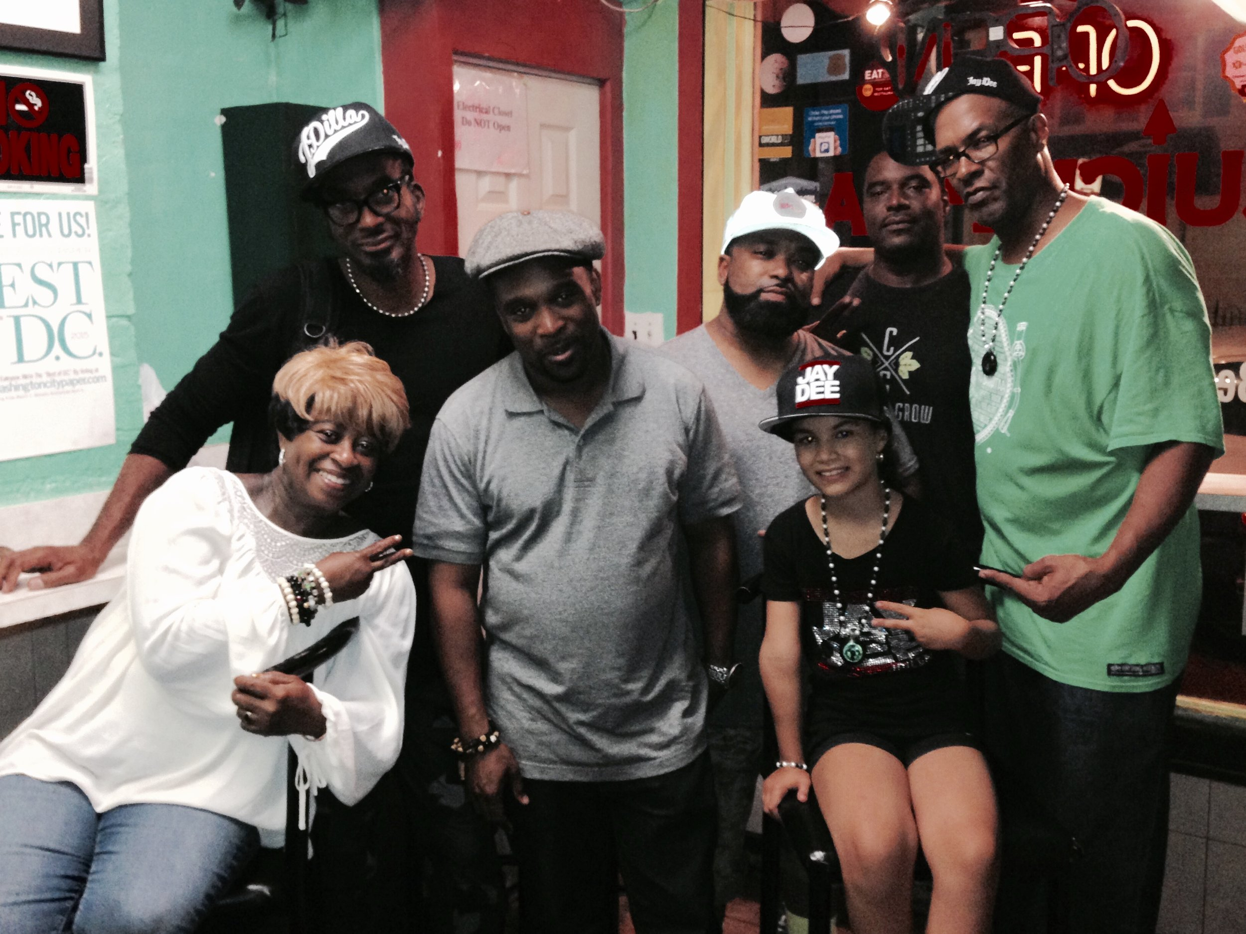 Lft to Rt, MaDukes, Amp Fidler, DJ Spinna, Gene, DJ Kool Flash, J Sands, and Bedouin.jpg