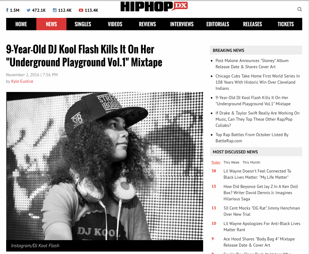 9-Year-Old DJ Kool Flash Kills It On Her