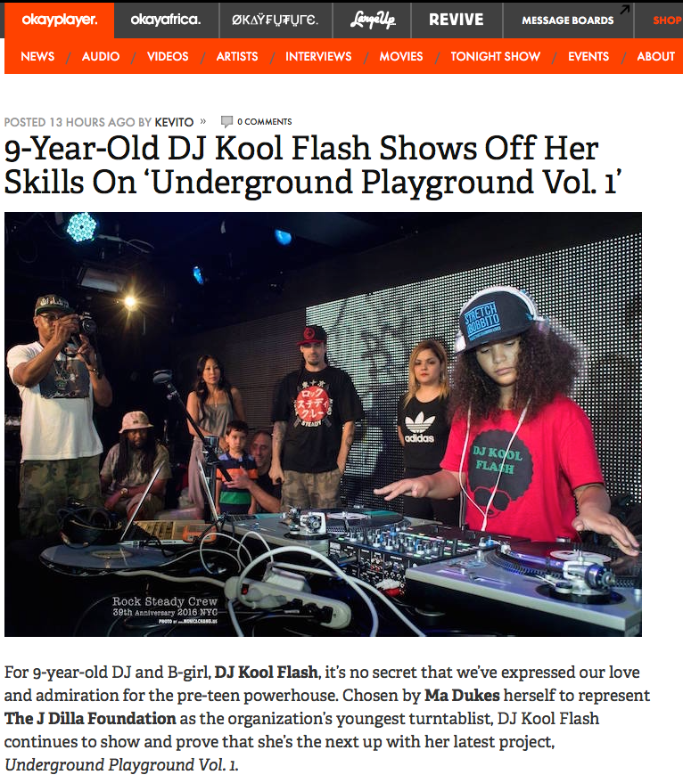 9-Year-Old DJ Kool Flash Shows Off Her Skills On 'Underground Playground Vol. 1' - (2016)