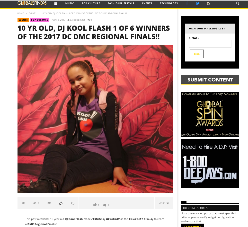 10 YR OLD, DJ KOOL FLASH 1 OF 6 WINNERS OF THE 2017 DC DMC REGIONAL FINALS!! - (2017)