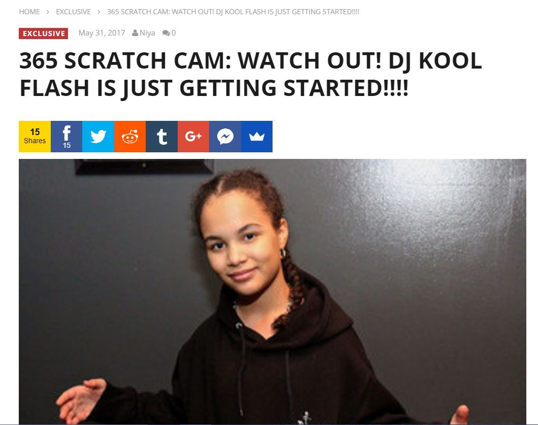 365 SCRATCH CAM: WATCH OUT! DJ KOOL FLASH IS JUST GETTING STARTED!!!! - (2017)
