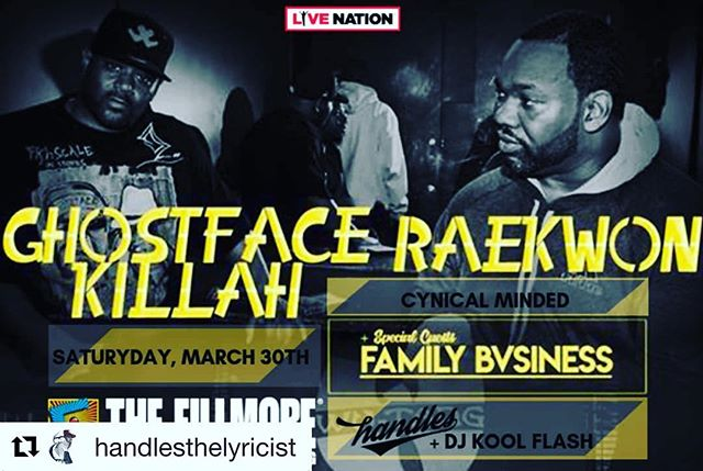 #dmv This Saturday Night✨March 30th @fillmoresilverspring My big bro @handlesthelyricist 🎤and I 🎧 are Honored 🙏🏽 to be Opening for #legends @realghostfacekillah @raekwon Join us for a night of #realhiphop #dmc2018nycchamp🏆 #blackexcellence #blackgirlmagic #scratchvision #ranedj #soulinthehorn #dj #love @sunnytheagent