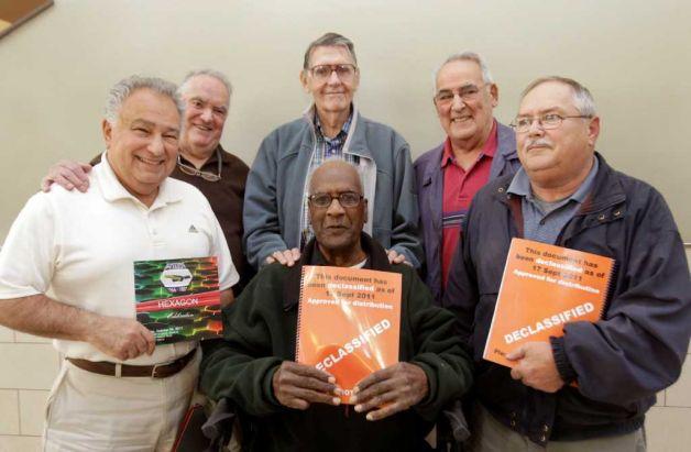Bob Zarba, Fred Mara, Al Loewenstine, Al Bronico, Ed Newton and Ed DeVeaux (seated)