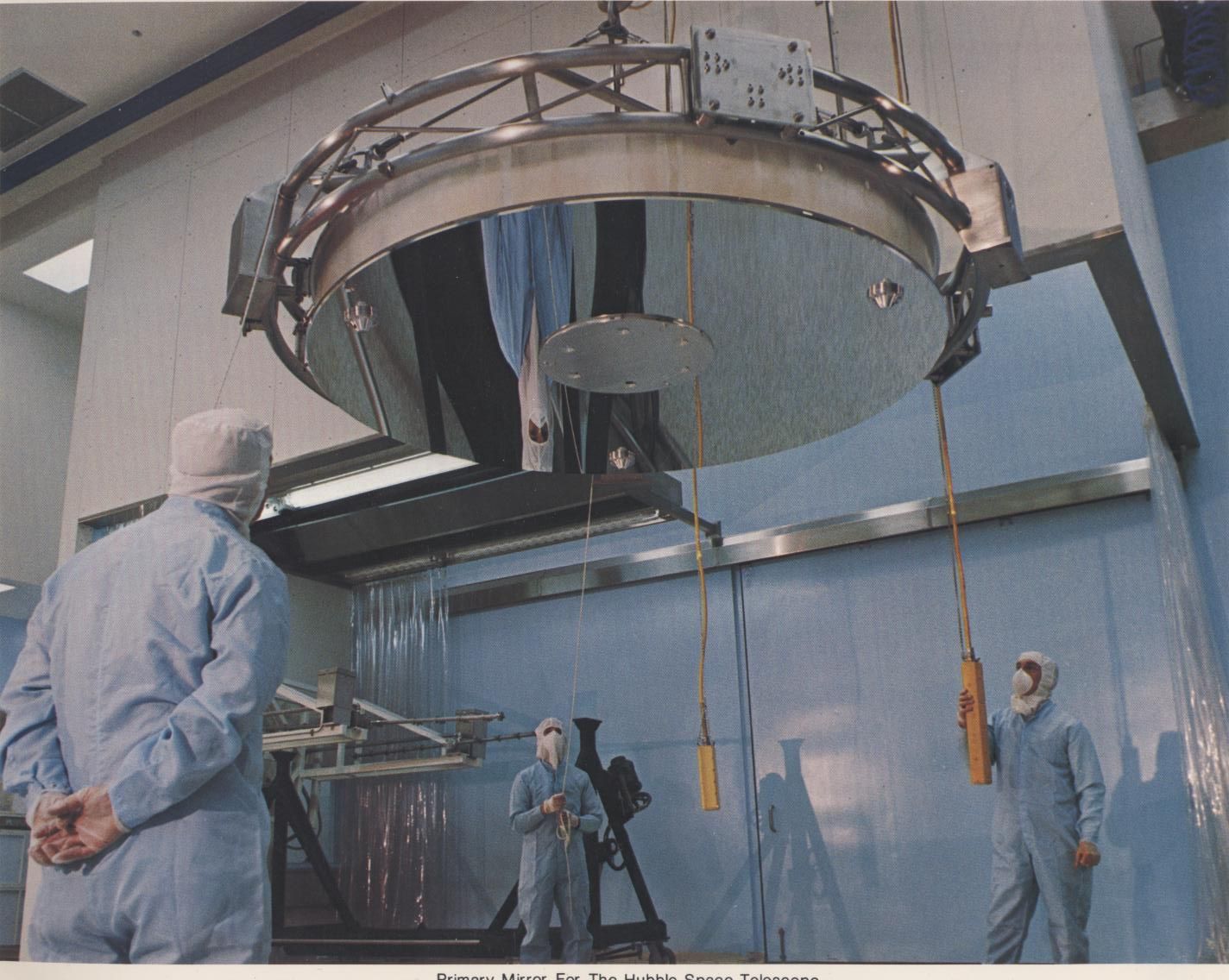 The Hubble primary mirror being installed