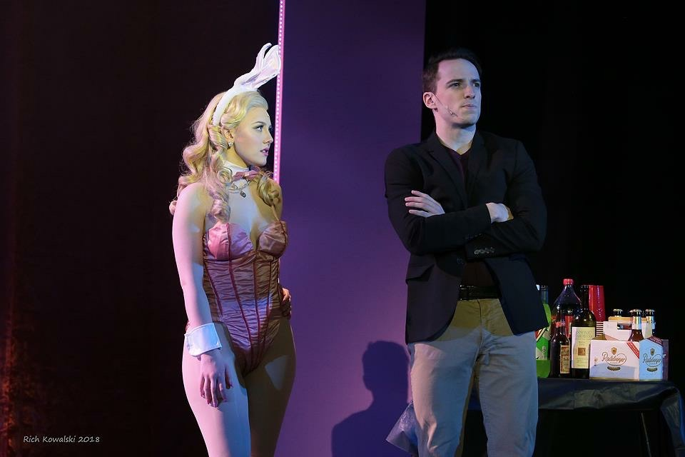 Elle in  LEGALLY BLONDE  with Anthony Crouchelli (Warner). (2018)  Fair Moon Stages  Photo by Rich Kowalski