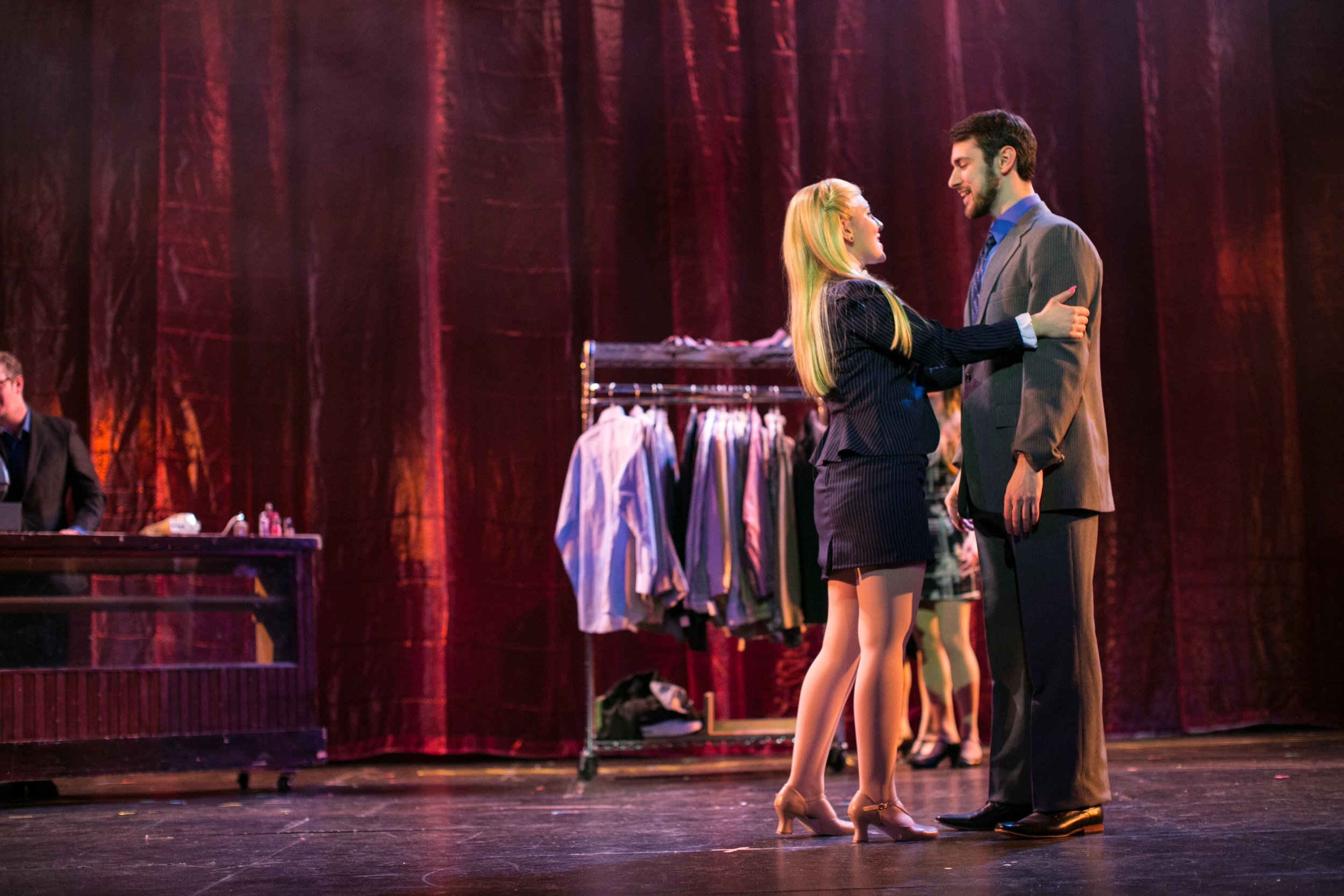 Elle in  LEGALLY BLONDE  with Zach Miller (Emmett). (2018)  Fair Moon Stages  Photo by Rich Kowalski