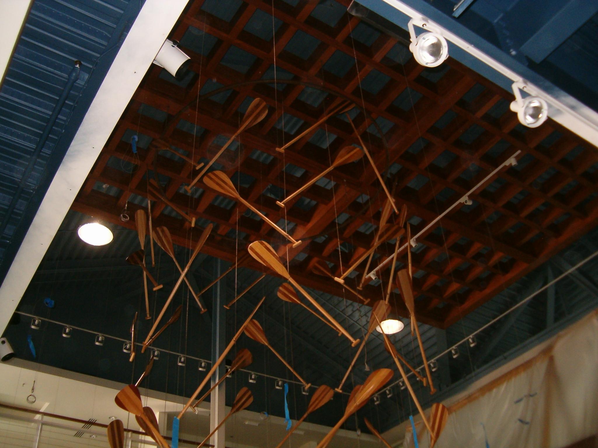 03 Canoe Paddles Hanging from Ceiling.JPG