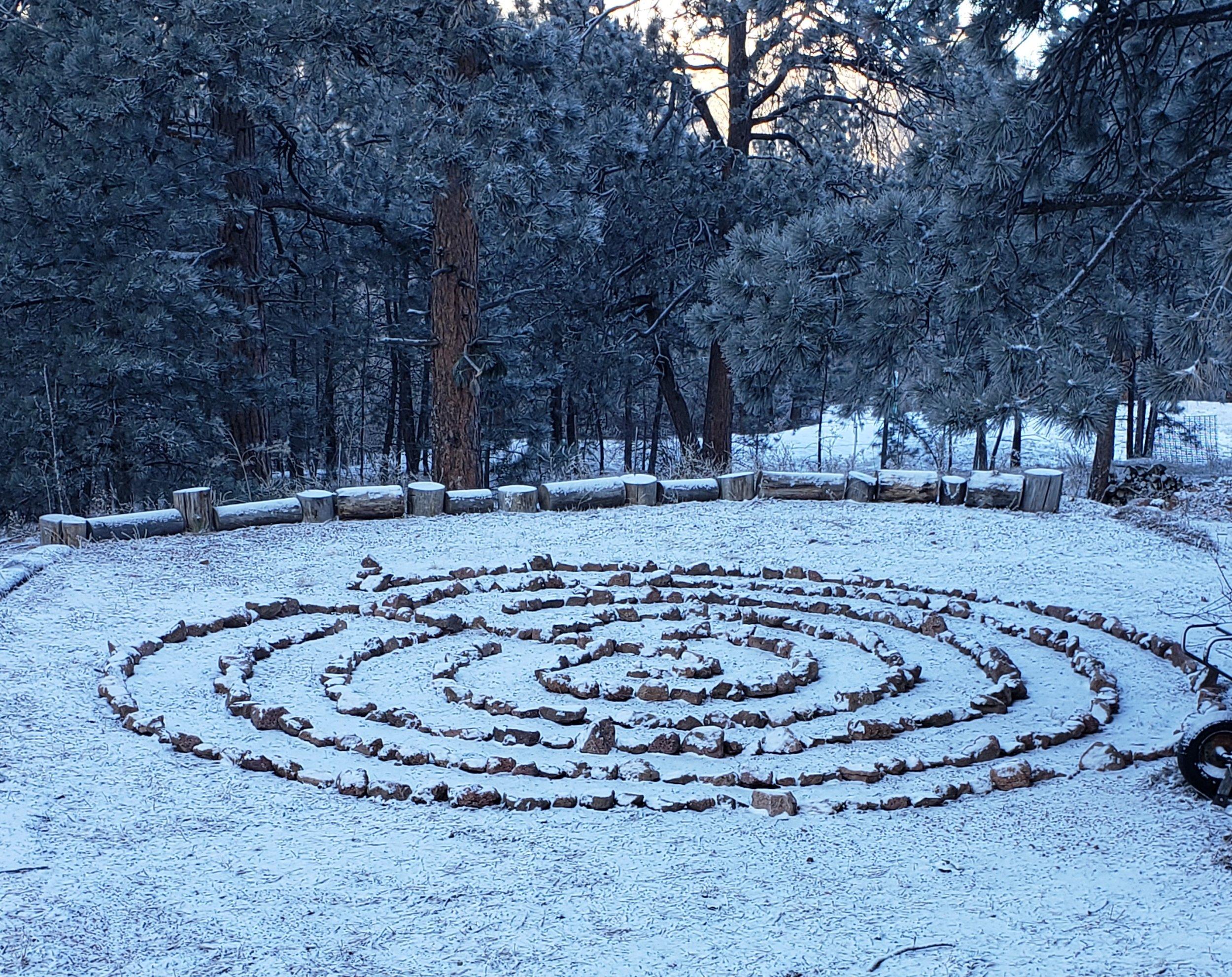 labyrinth first snow.jpg