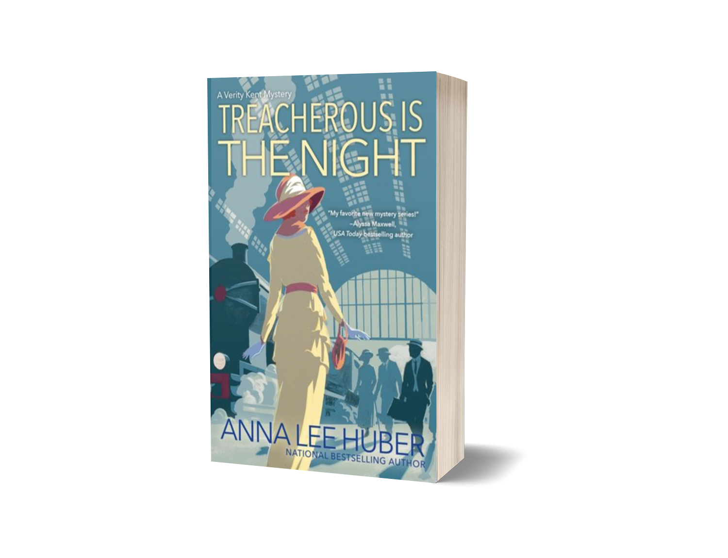 Thanks to NetGalley and the publisher for the ARC.  TREACHEROUS IS THE NIGHT (September 25th 2018 by Kensington Publishing Corporation) by Anna Lee Huber is the second novel in the Verity Kent Mystery series.  Verity Kent is reluctantly attending a séance when the medium passes along a purported message from one of the spies she worked with during the Great War. When the medium dies in a mysterious fire the next day, Verity decides that she must travel to Belgium to seek out her former associate, Emilie. Despite his reluctance to return to the scene of the war - and the fragile state of their marriage - Verity's recently returned husband, Sidney, agrees to accompany Verity on her mission. With help from some of her former associates in the Secret Service, Verity transverses the war torn country as she follows clues and narrowly escapes assassins.  TREACHEROUS IS THE NIGHT is a magnificent follow up to THIS SIDE OF MURDER. The second novel picks up a few weeks after the first one ended, and it continues with the reconciliation between Verity and Sidney. Their relationship is in a very fragile state, and they spend the novel reconciling and getting to known each other again. Their marriage is a wonderful portrayal of the countless relationships that were affected by the war.  The reader also learn much more about Verity's assignments with the Secret Service during the Great War - particularly work she did with the intelligence network known as La Dame Blanche, as well as her collaborations with an agent who was working undercover in the German army. The more I learn about Verity's secret war work, the more fascinating she becomes.  Huber also brings the characters, the locations, and the time period to life through her rich prose. The imagery that Huber creates within the novel is intensely vivid and descriptive. It is clear that she did a lot of research into... well, everything related to the Great War and the aftermath. Huber portrays the repercussions of the Great War, and the toll it took on the people and the landscape, in a very realistic and sympathetic manner. The reader gets to experience Sidney's anguish as he returns to the Western Front, as well as the suffering of the people of Belgium and France who lived near the trenches. The Great War may have ended, but it will take a long time for the people and places to recover and repair from the devastation.