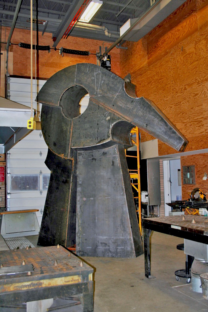 Prairie Wind is in the final stages of fabrication at Johnson's studio and soon set to be transported to Norman for installation.