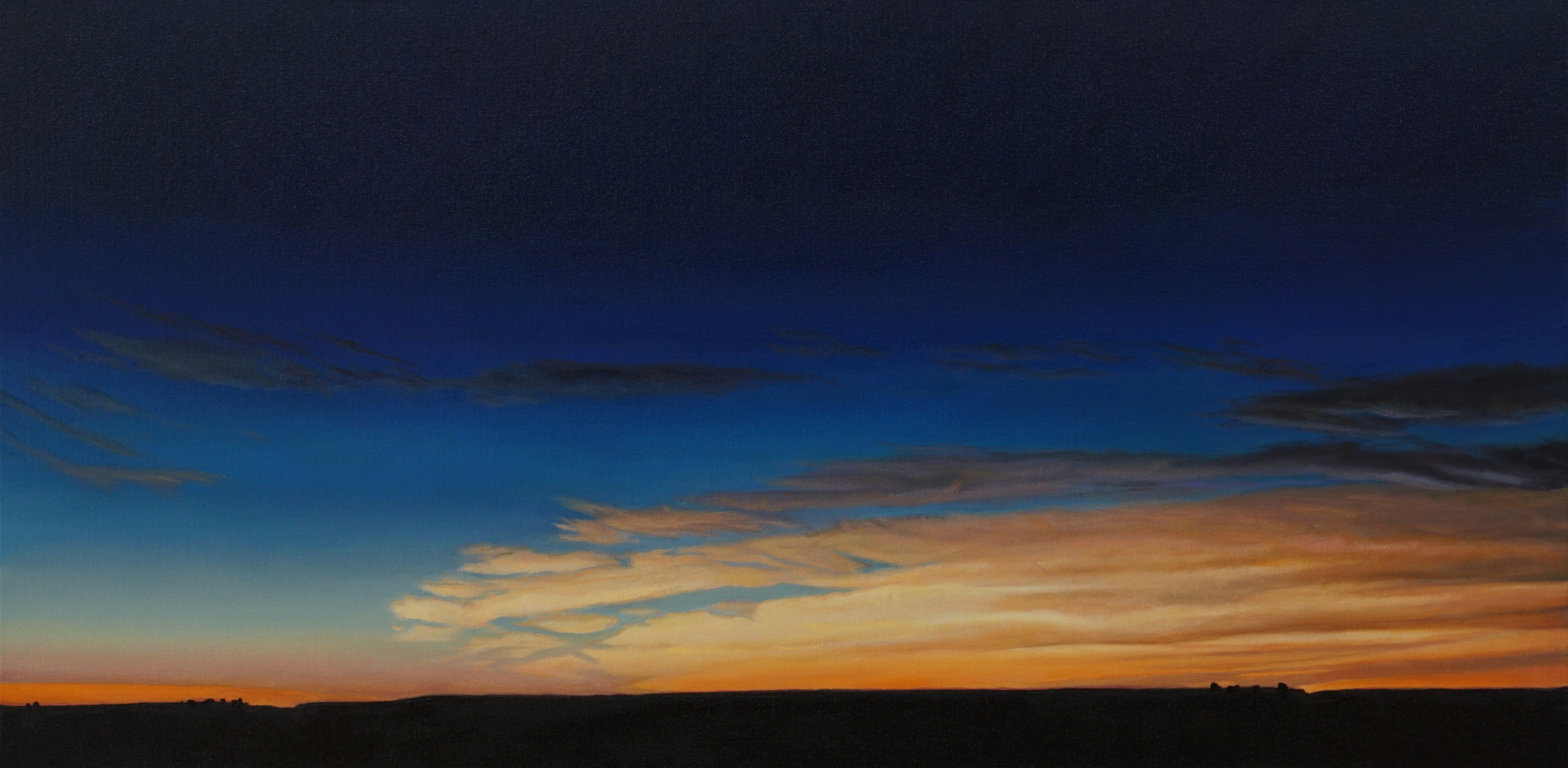 "Eclipse Horizon Panorama South August 21, 2017  | David Holland | 18""x36"" 