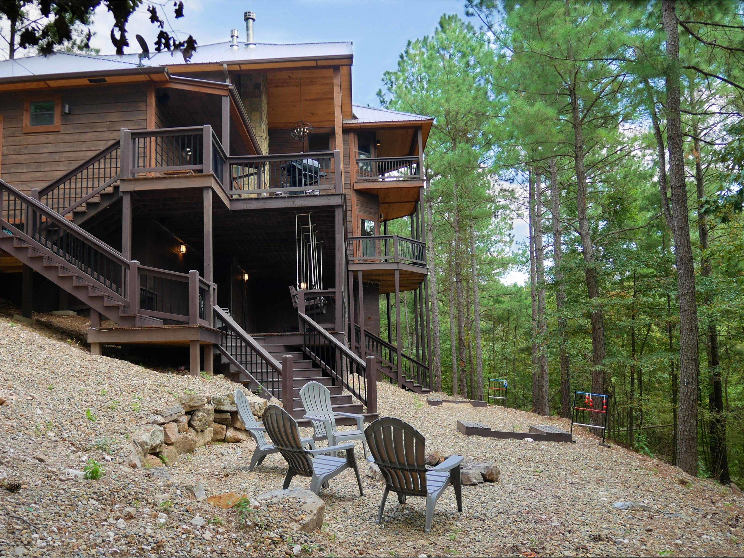 Rustic Mt Lodge - Firepit and Back Decks Horiz (Web).JPG